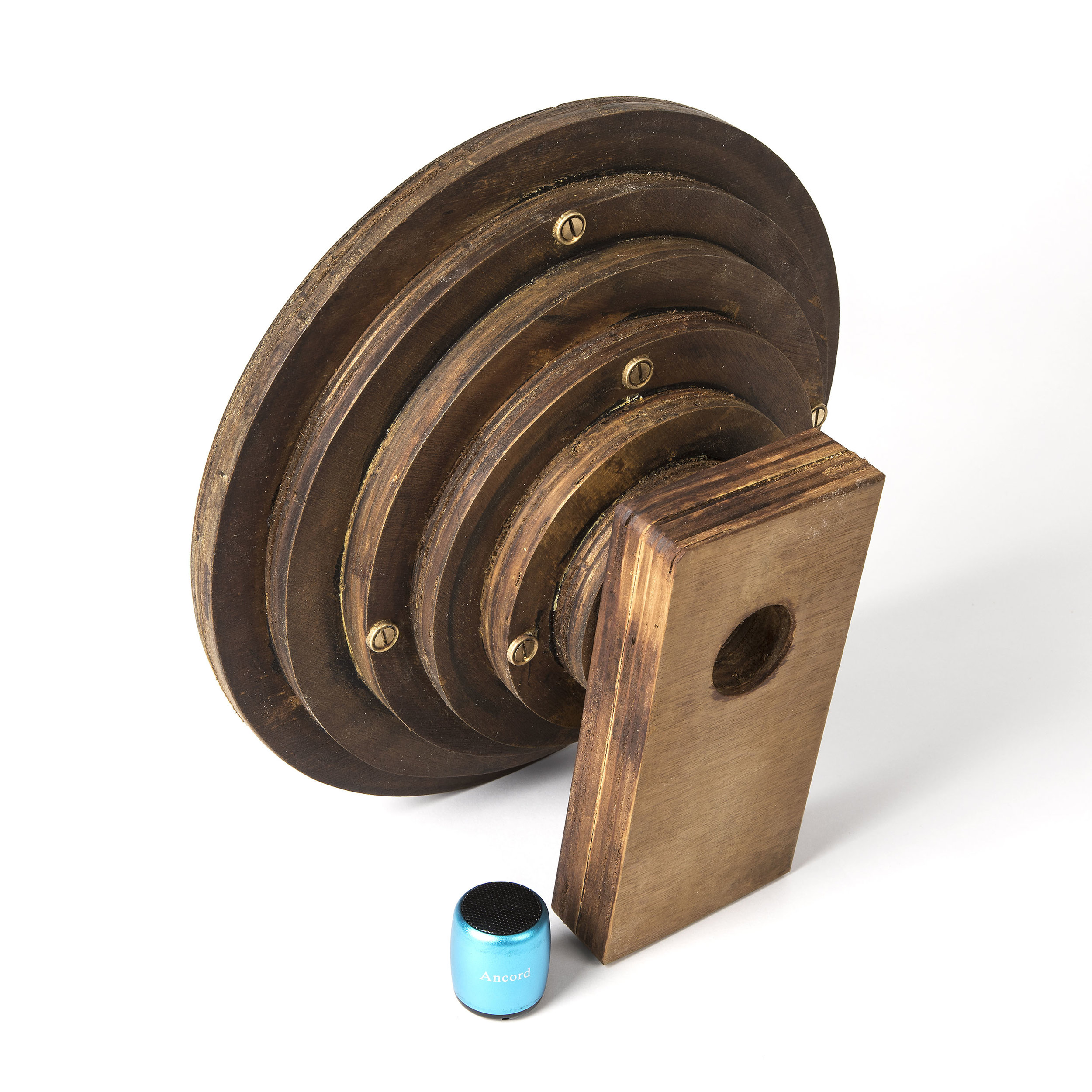 The medium speaker [rear view]