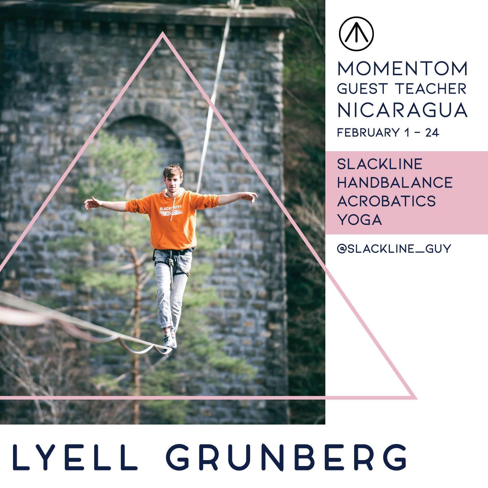 momentom collective teacher Nicaragua highline trickline show funambule circus performance spectacle ecole suisse Slackline Lyell Grunberg .jpg
