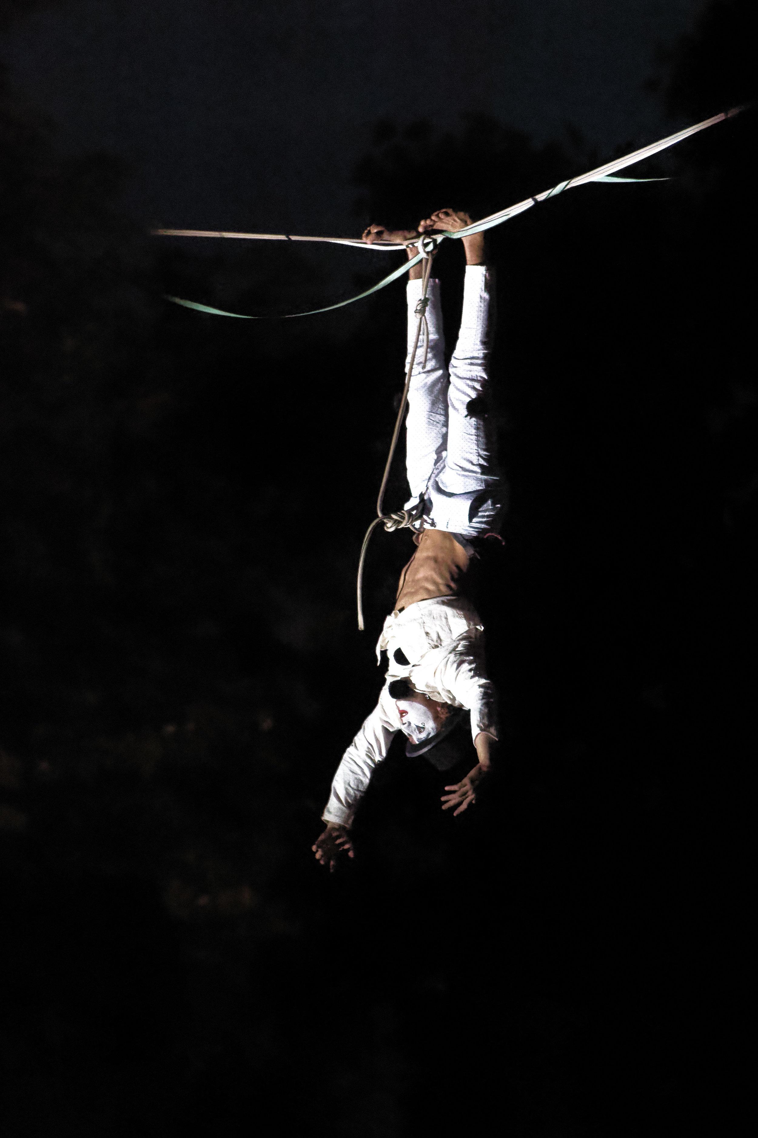 Fête de la Musique Tour de Peilz harpe suisse highline trickline show funambule circus performance spectacle ecole suisse Slackline Lyell Grunberg (6).jpg