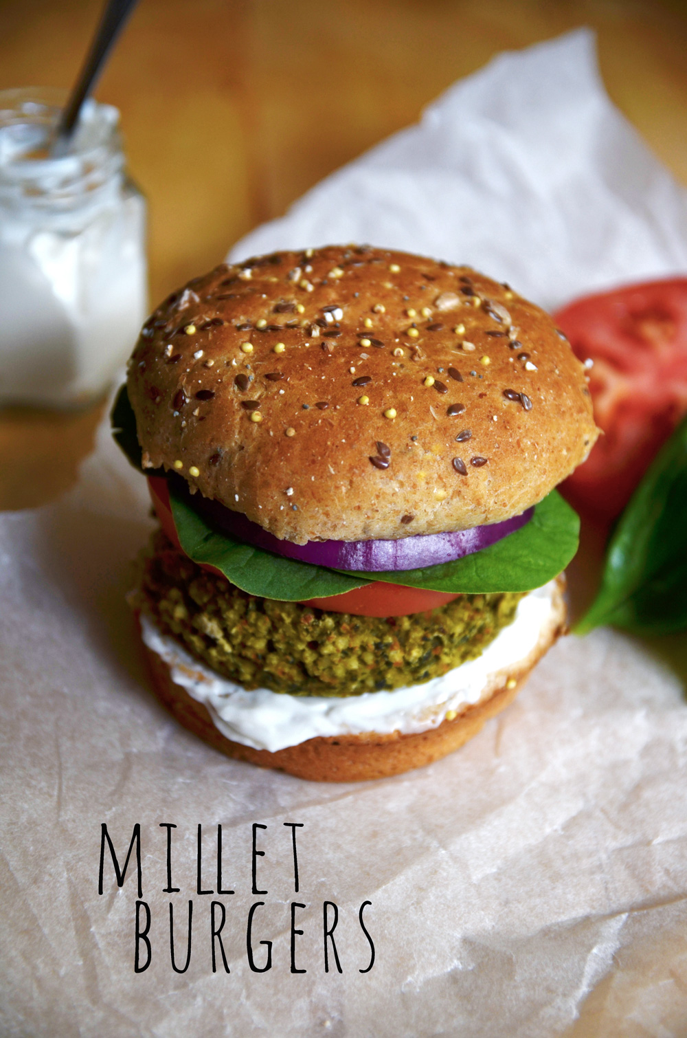 Vegan Burger Bun Millet & Chia 6/11 oz  #638301