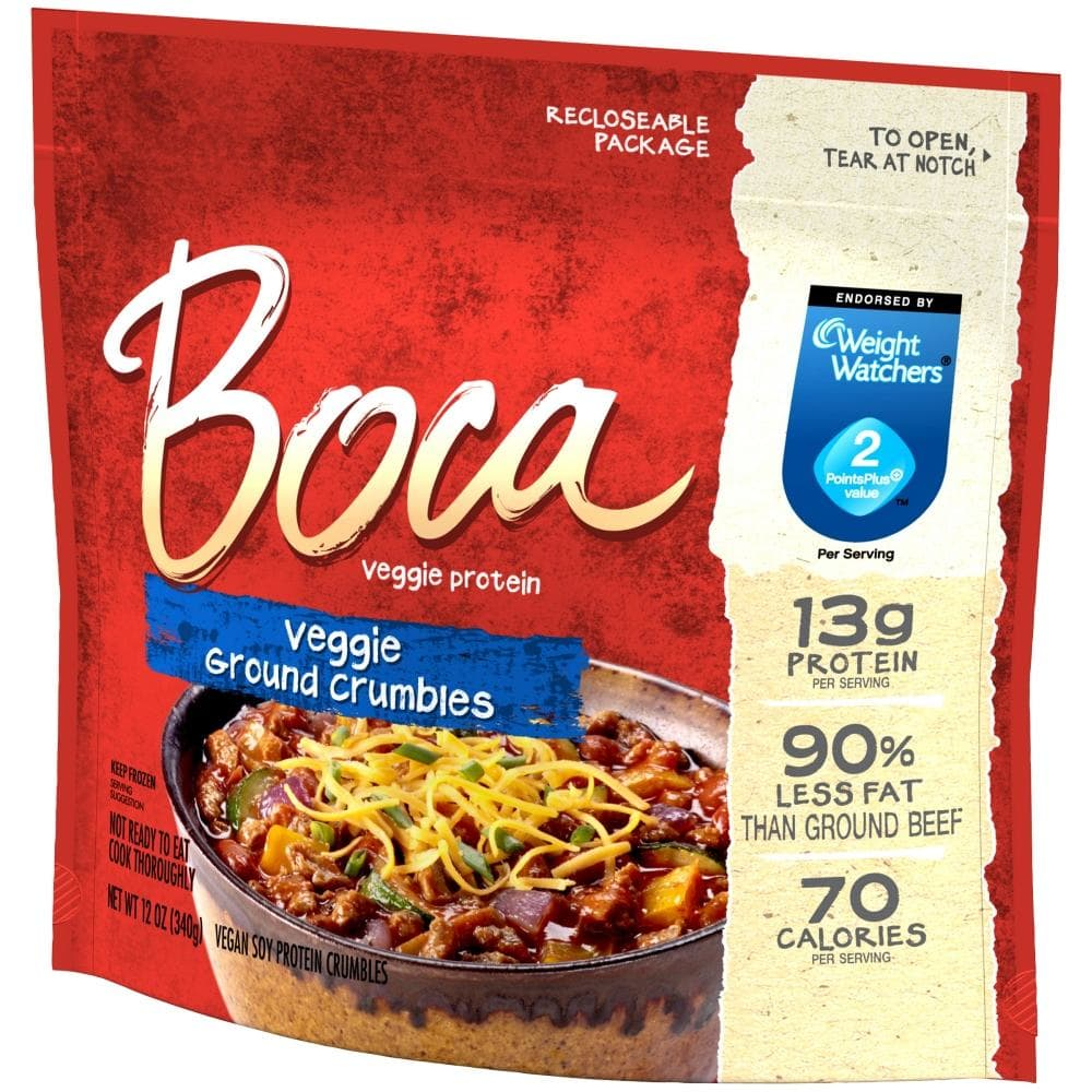 Vegan Boca Meatless Ground 4/2.5 lbs $47.26 #424931