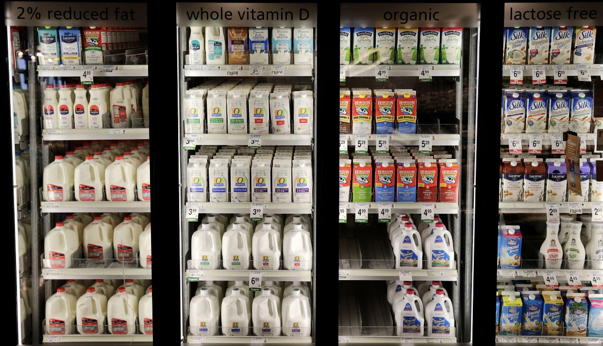 Trouble in the dairy aisle. (Reuters/Gary Cameron)