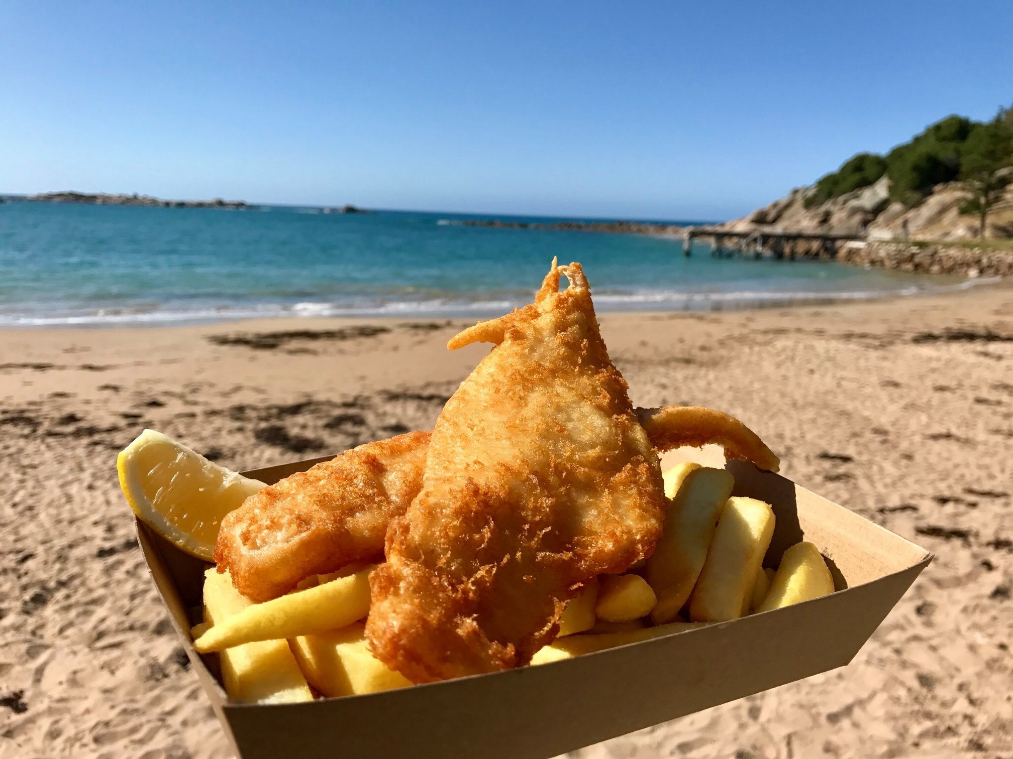 Fish & chips at the Flying Fish Cafe