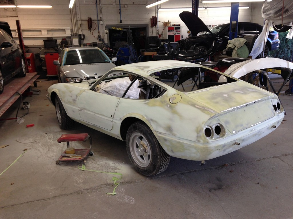 Some final attention to detail and then in the booth she goes. This 365 GTB/4 is really starting to shape up nicely.