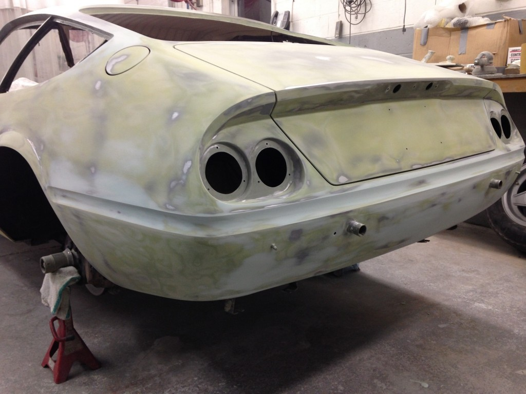 This car was a complete body modification. We cut almost every panel on the car and reworked all the metal. The client wanted the body to be as perfect as possible and do to the amount of filler on the car previously, wanted as little filler as possible within reason to stay close to budget.