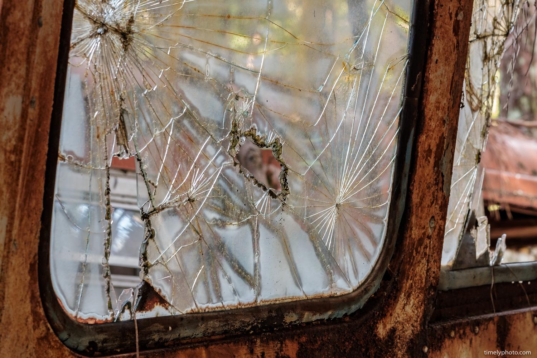 Broken car window. Part of the Americana series by Chris Lee