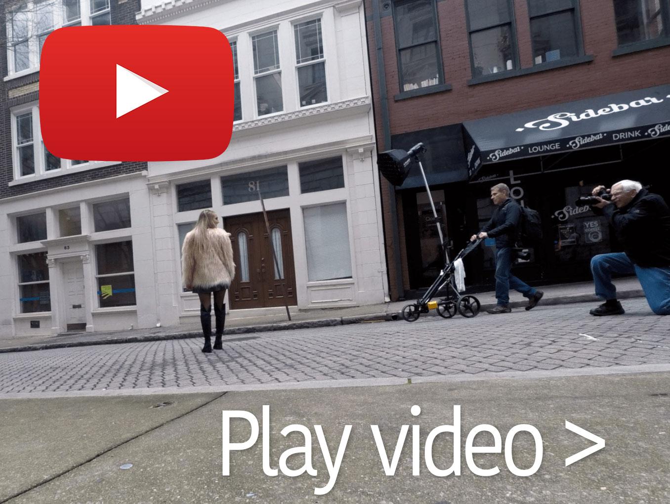 Short timelapse video of the shoot.