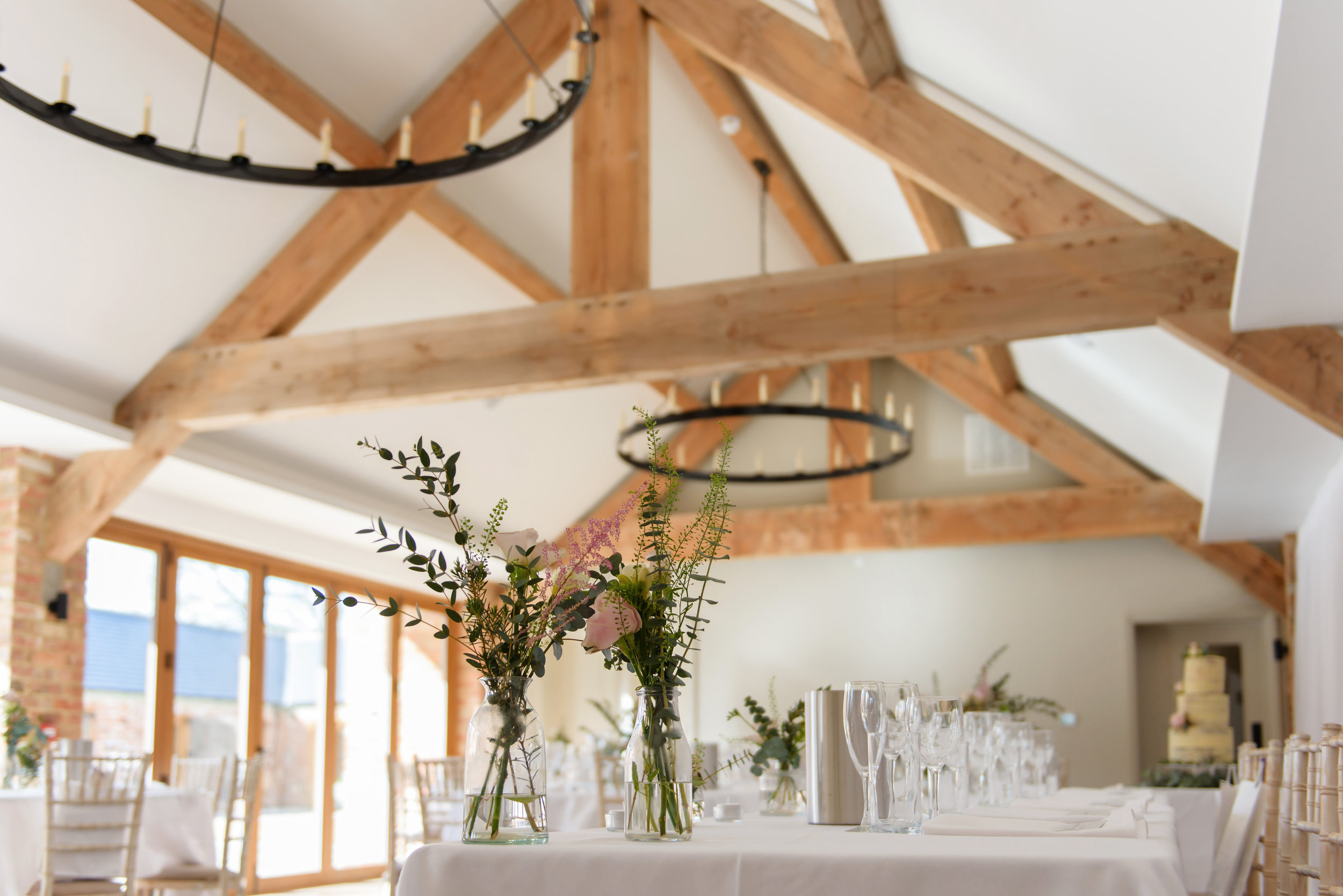 - We design and create the table settings to suit the wedding's requirements. Our flower displays are provided by Gabriella Rankin.