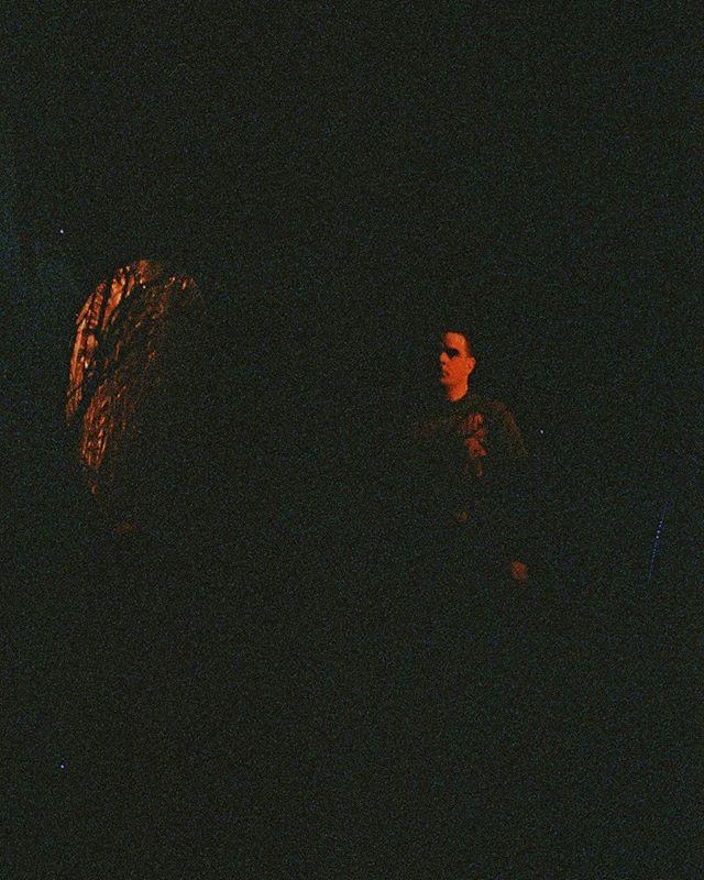 Todd Jones suspended in darkness