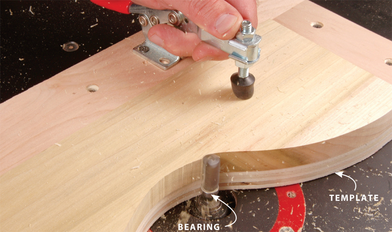 Using a table top router