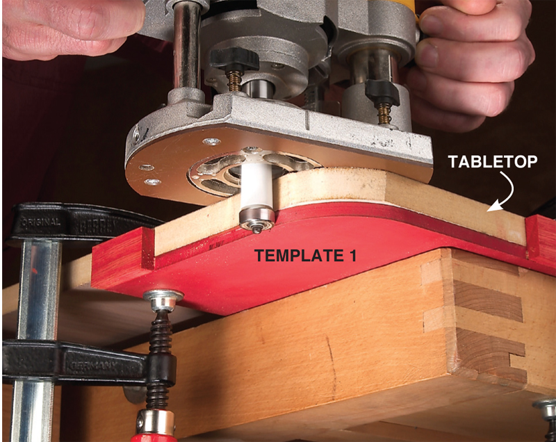 Using a traditional hand held router.