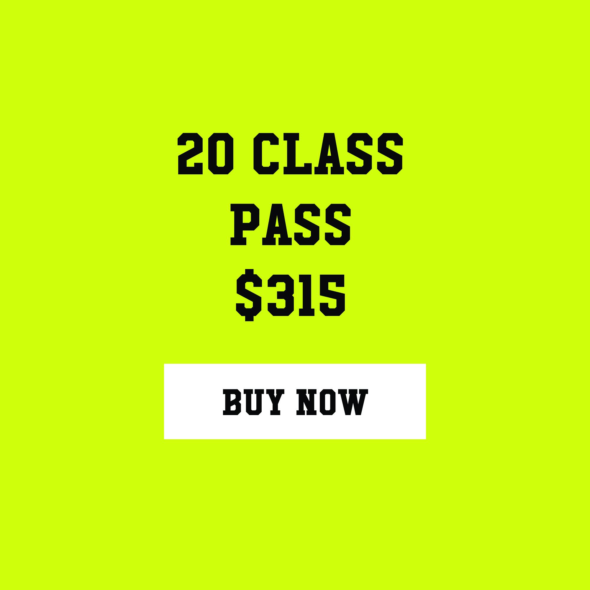 ($15.75 a class) Expires in twelve months