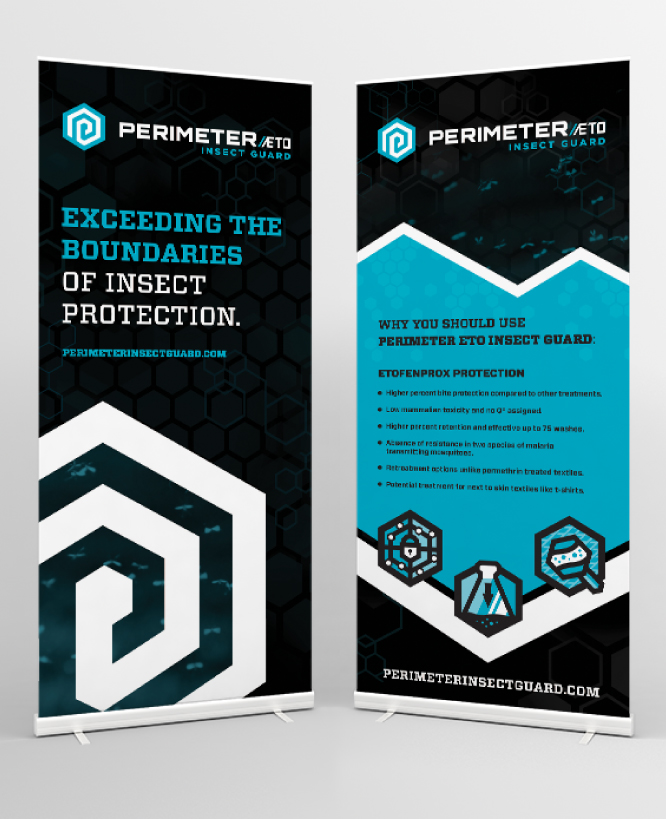 PERIMETER INSECT GUARD    Trade Show Banners