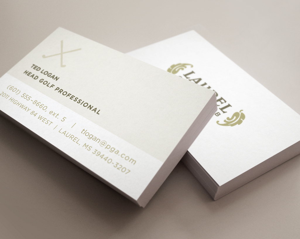 LAUREL COUNTRY CLUB    Business Cards