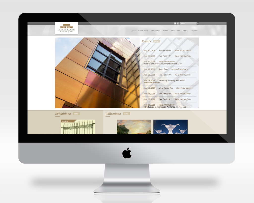LAUREN ROGERS MUSEUM OF ART    Website Design & Development