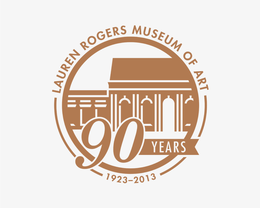 LAUREN ROGERS MUSEUM OF ART    90th Anniversary Badge