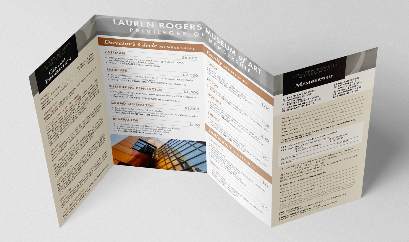 LAUREN ROGERS MUSEUM OF ART    Membership Brochure Design