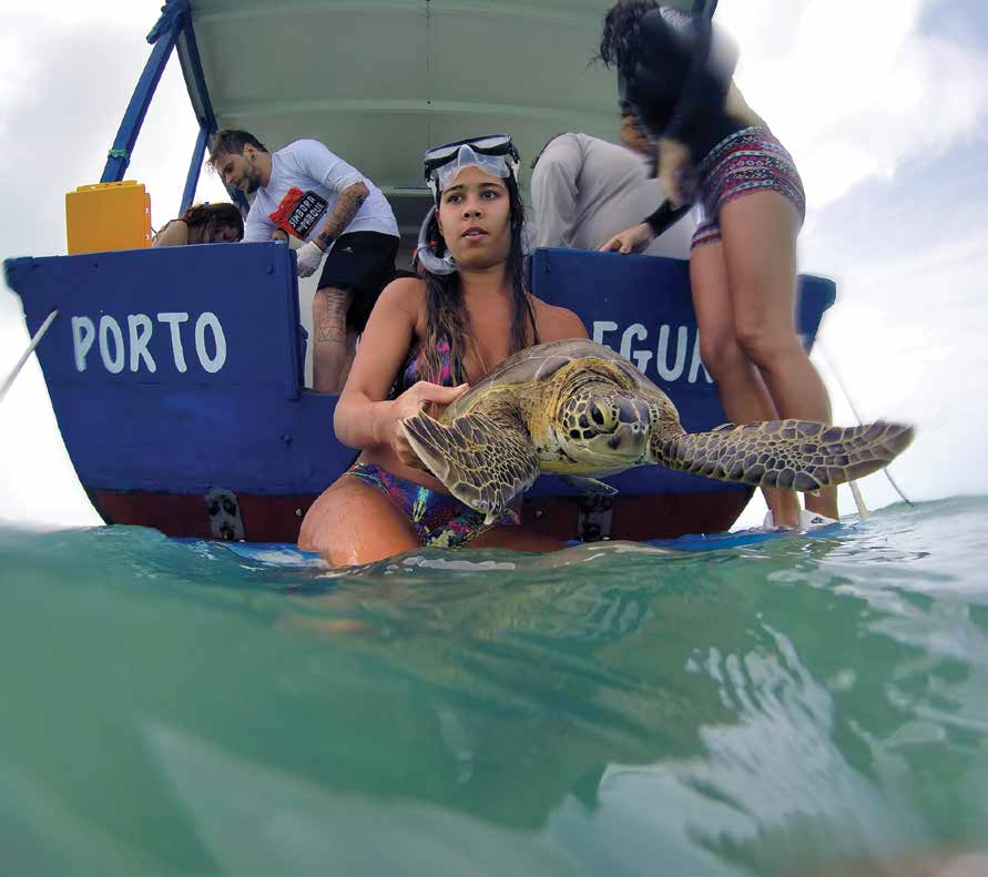 Members of the Marcos Daniel Institute's scientific tourism expedition in action. © LEONARDO MERÇON