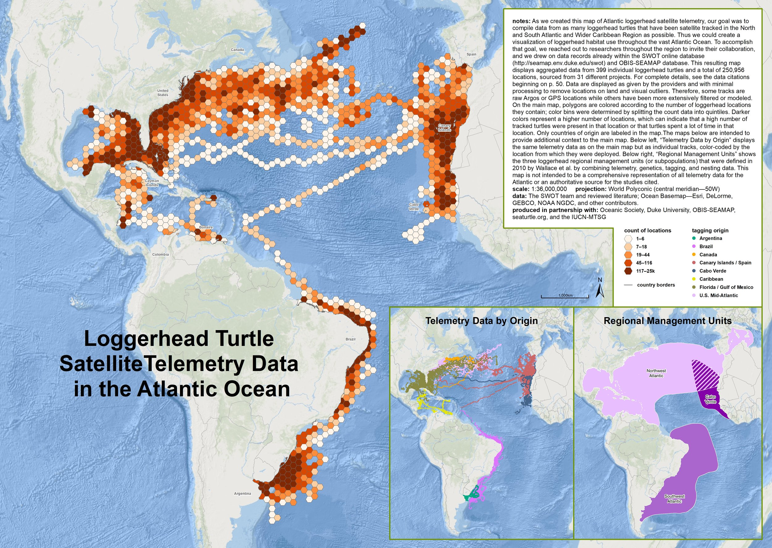 Loggerhead Turtle Satellite Telemetry Data in the Atlantic Ocean ( data citations ) |   SWOT Report   , vol. XIV (2019) .