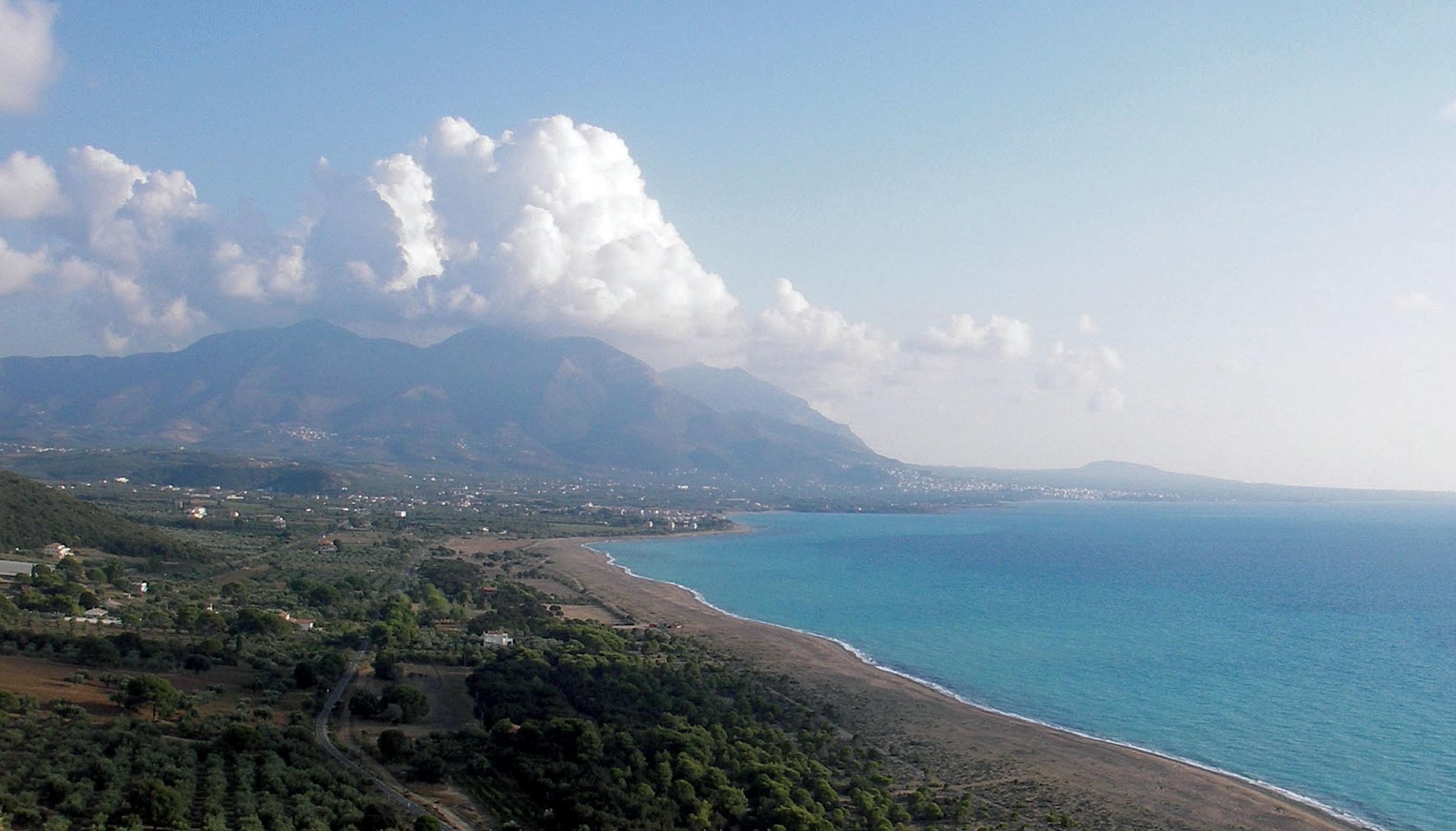 Kyparissia Bay in western Peloponnese. © ARCHELON