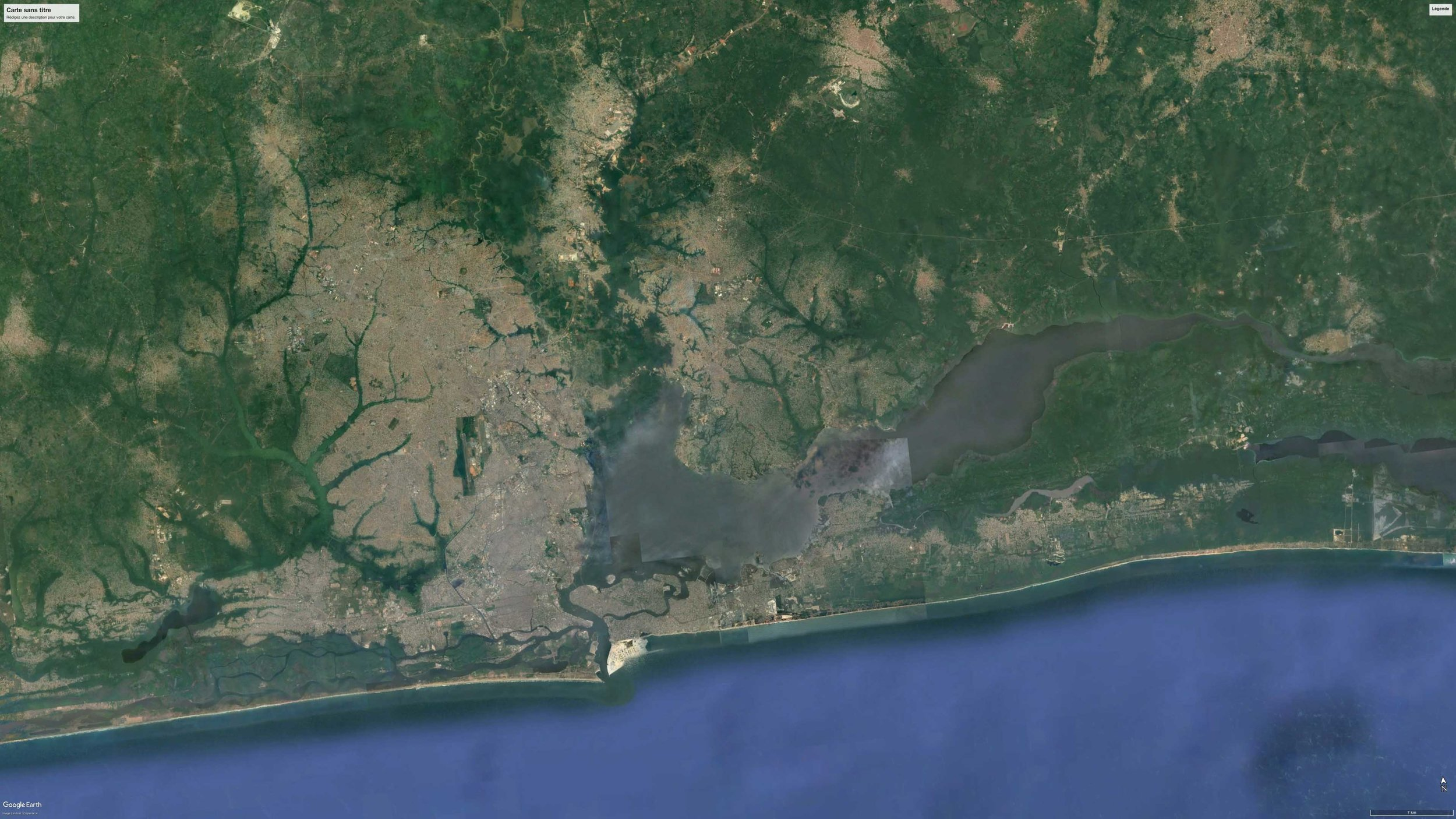 SATELLITE VIEW OF LAGOS, NIGERIA, 2016 *