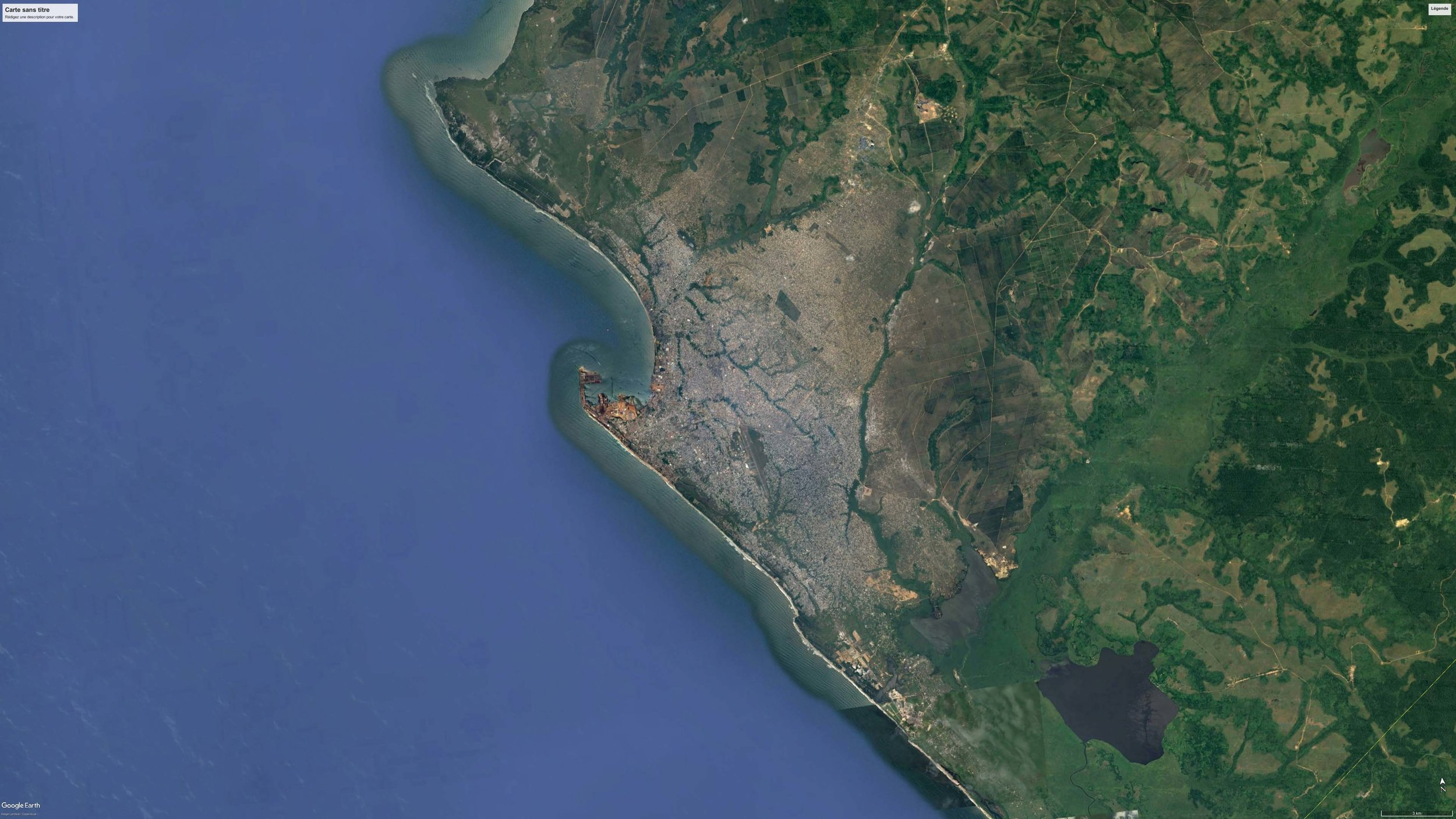 SATELLITE VIEW OF POINTE-NOIRE, REPUBLIC OF THE CONGO, 2016