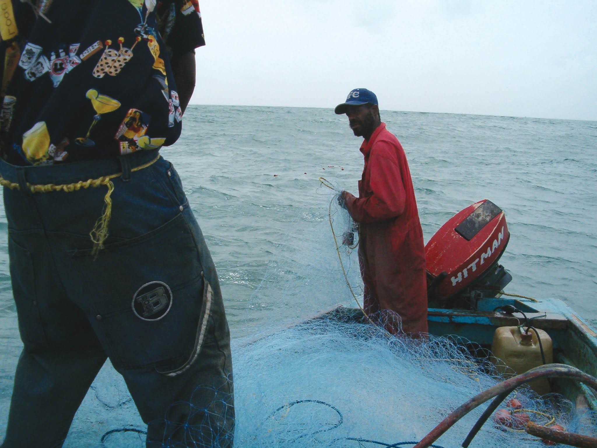 Gillnet fishers in Trinidad and Tobago. © JORDAN GASS, 2005