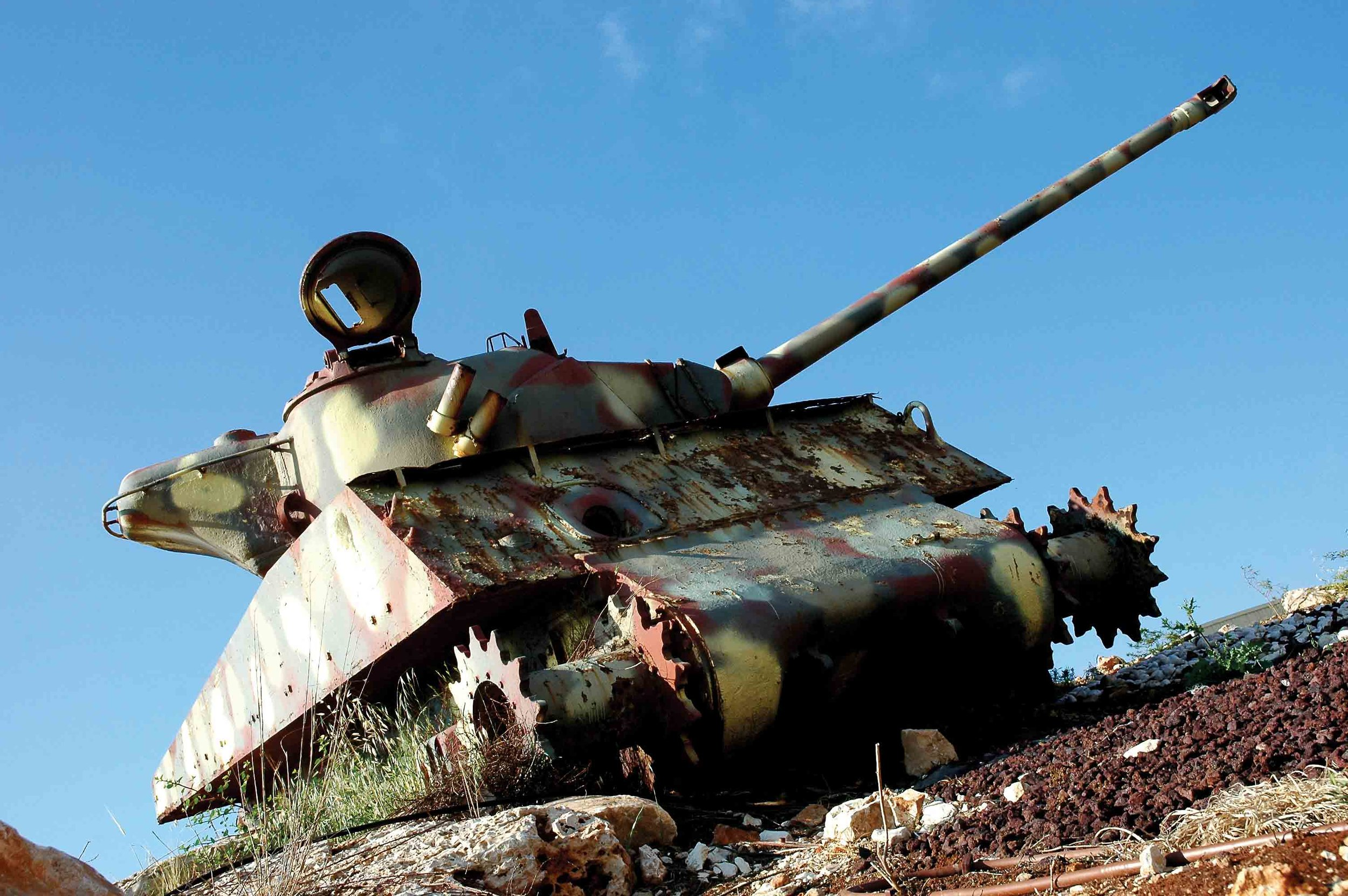 Tank: An Israeli military tank. © RAPHAEL LEVY