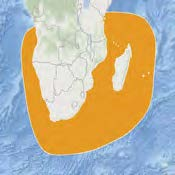 Southwest Indian Ocean Subpopulation—Critically Endangered - The Southwest Indian Ocean leatherback subpopulation nests principally along the Indian Ocean coast of South Africa (in KwaZulu-Natal province), but some nesting occurs in Mozambique. Its marine habitats extend around the Cape of Good Hope in both the Indian Ocean and Atlantic Ocean. The leatherback nesting population in South Africa has been monitored consistently for 50 years, and that population accounts for more than 90 percent of the total abundance of the subpopulation. The South Africa nesting population has declined by 5.6 percent during the past three generations and is continuing to decline. Furthermore, it contains just 148 mature individuals and a relatively restricted nesting range. The combination of those characteristics results in the critically endangered listing.