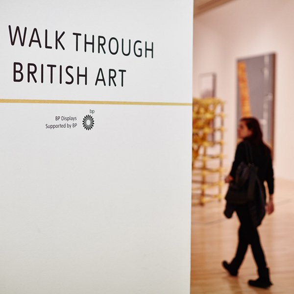 "Tate Britain'da BP sponsorluğunda yapılan  ""Walk Through British Art""  sergisi"