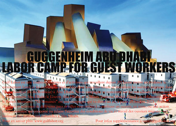 Sam Durant,  Guggenheim Abu Dhabi Labor Camp for Guest Workers