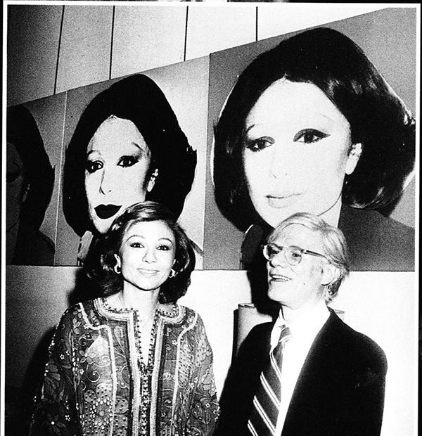 Farah Pehlevi ve Andy Warhol