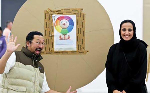 Takashi Murakami ve Şeyha El Mayassa bin Hamad bin Halife Es-Sani