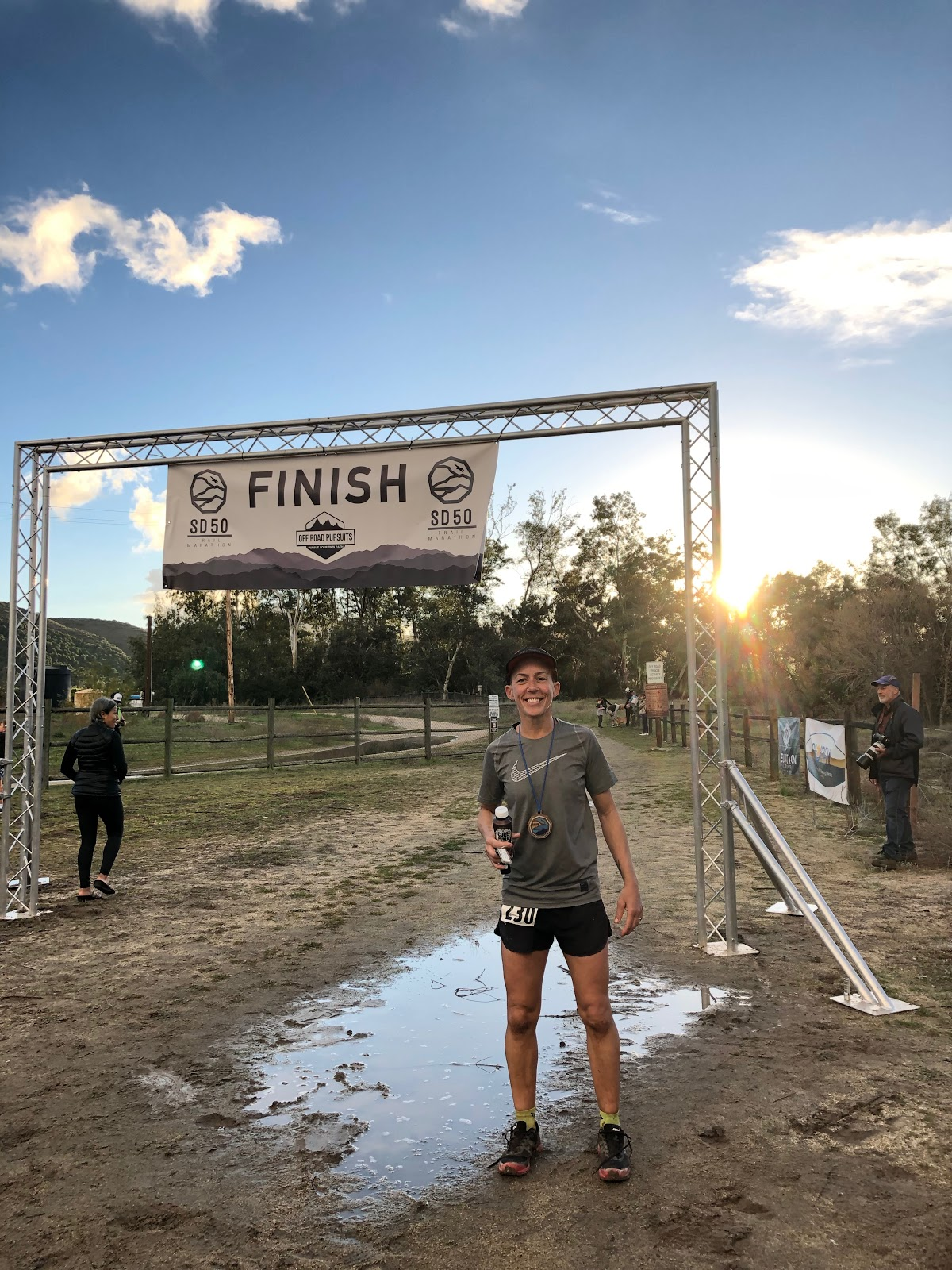 The finish line of the San Diego 50 miler