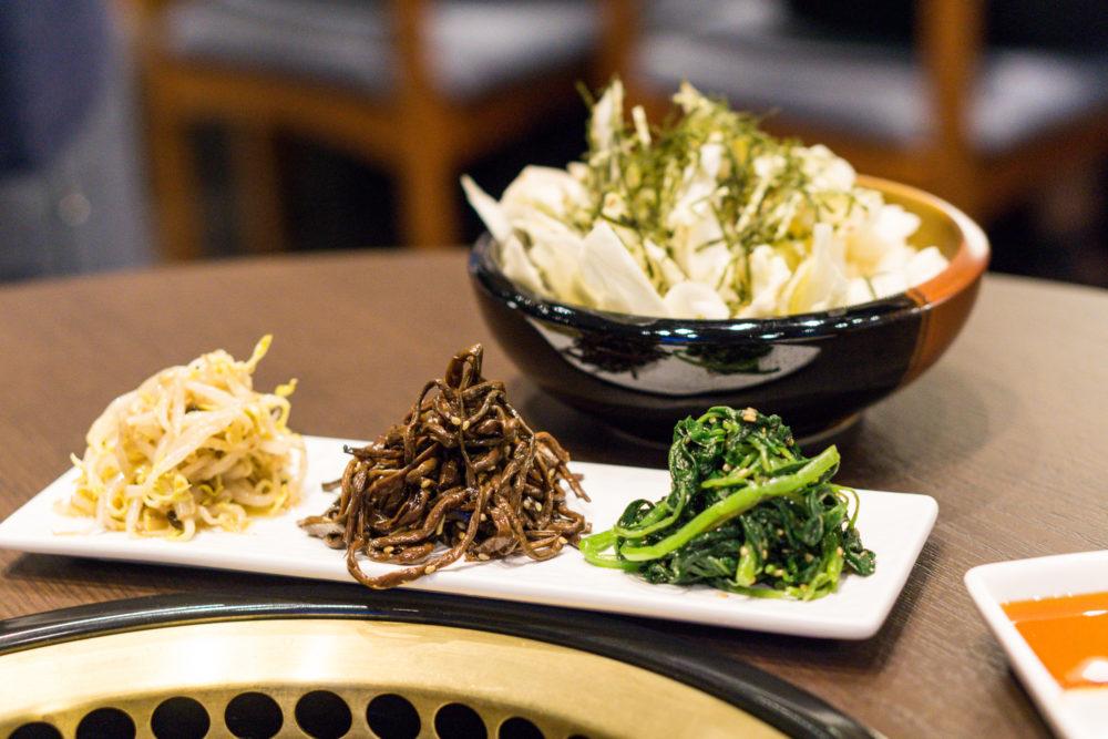 The Gyu Bar - House Cabbage Salad and Assorted Namuru