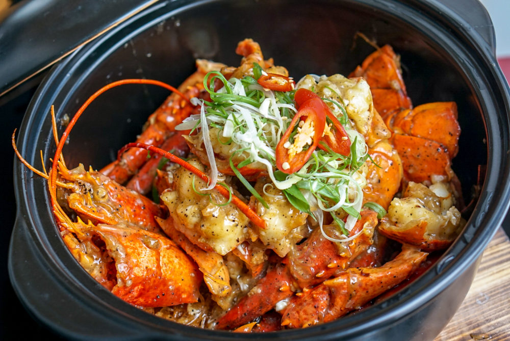Forbidden Duck Singapore by Demon Chef Alvin Leung - Lobster Vermicelli with Black Truffle Har Mi XO