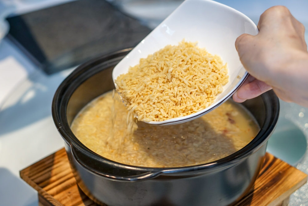 Forbidden Duck Singapore by Demon Chef Alvin Leung - Seafood Rice in Aromatic Duck Soup