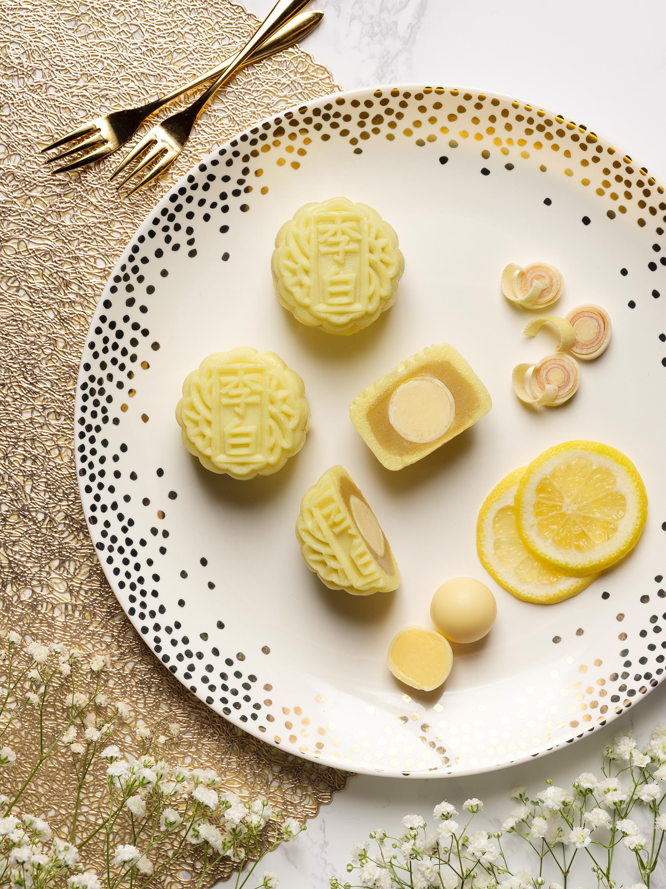 Sheraton Towers Singapore - Mini Snowskin Mooncake - Lemon and Lemongrass with White Lotus Seed Paste.jpg