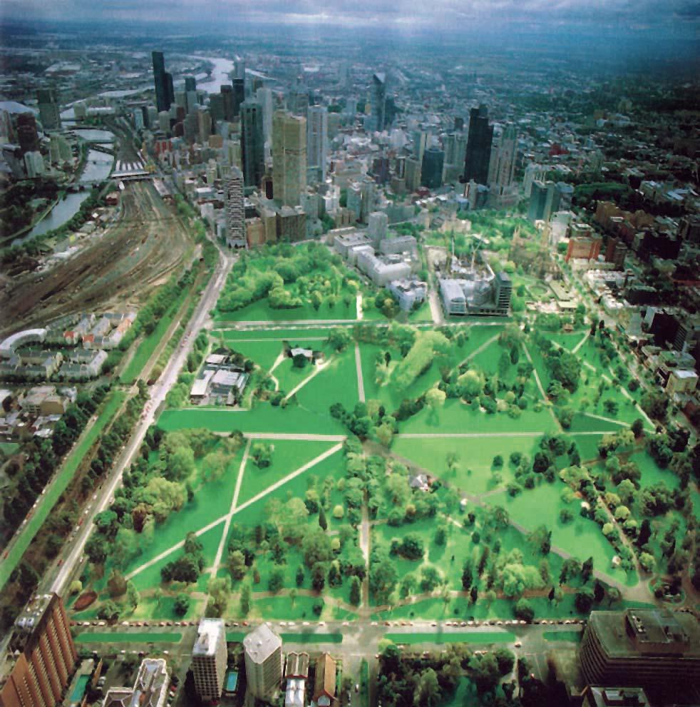 Future scenario of Fitzroy Gardens if elm trees were lost