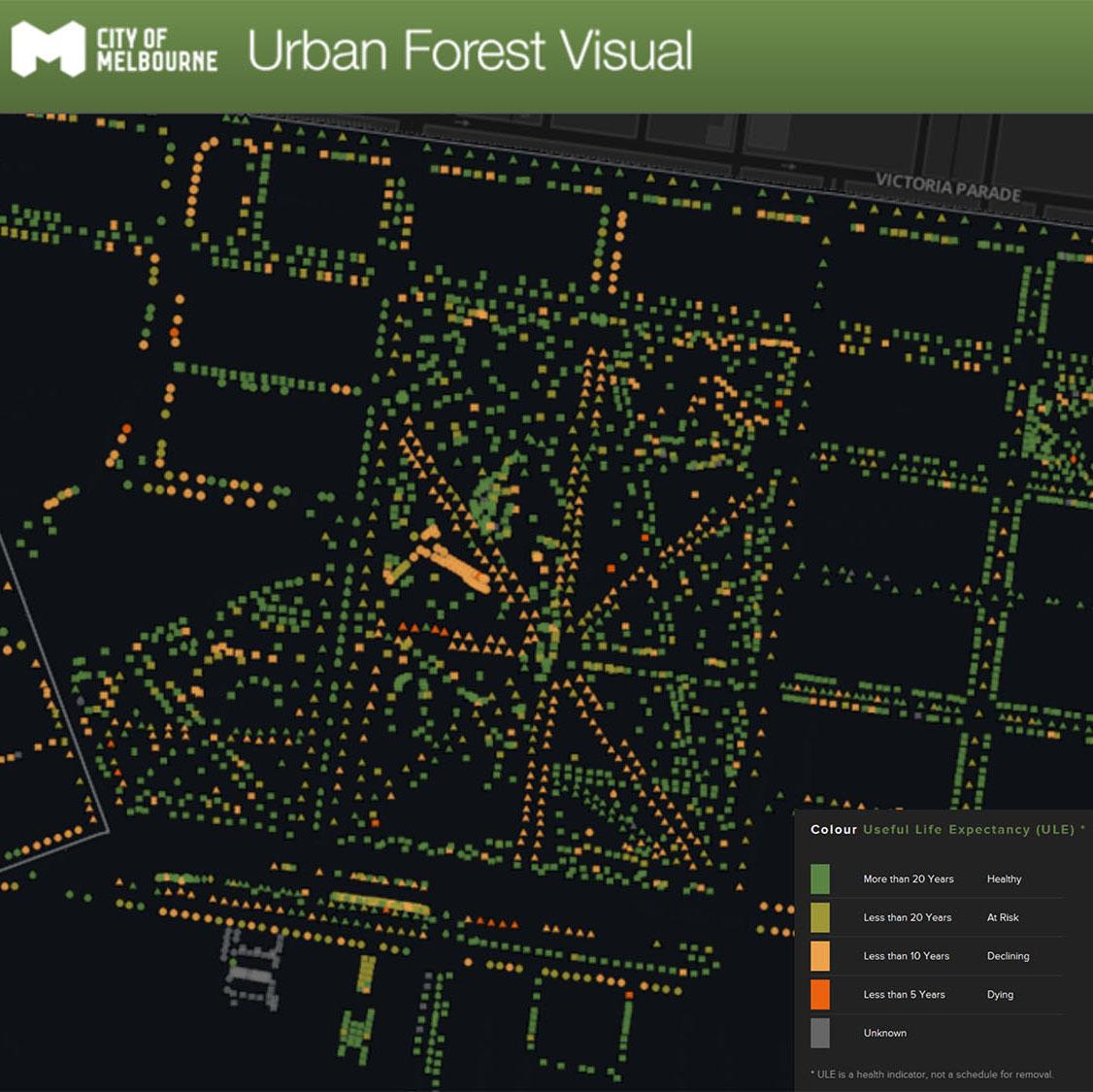 Urban Forest Visual - digital platform