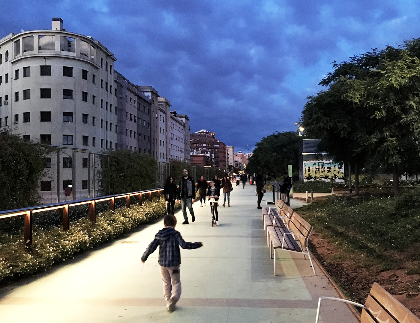 Jardins de la Rambla de Sants: Barcelona's version of the High Line is popular with the locals, who are also wary of green gentrification.