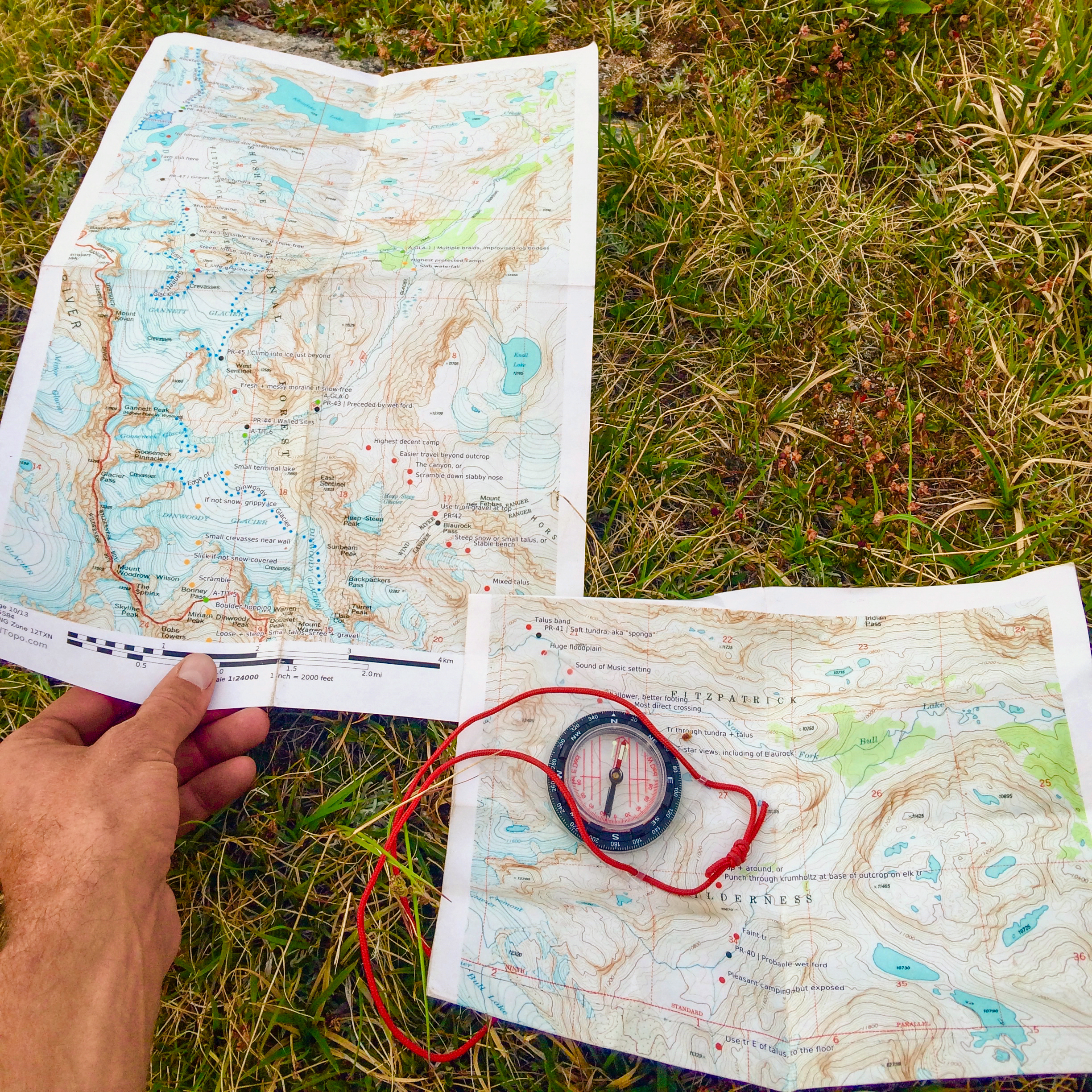 Andrew Skurka's guide-maps on the Wind River high-route. the author does an excellent job of noting critical navigation features and calling out hazards