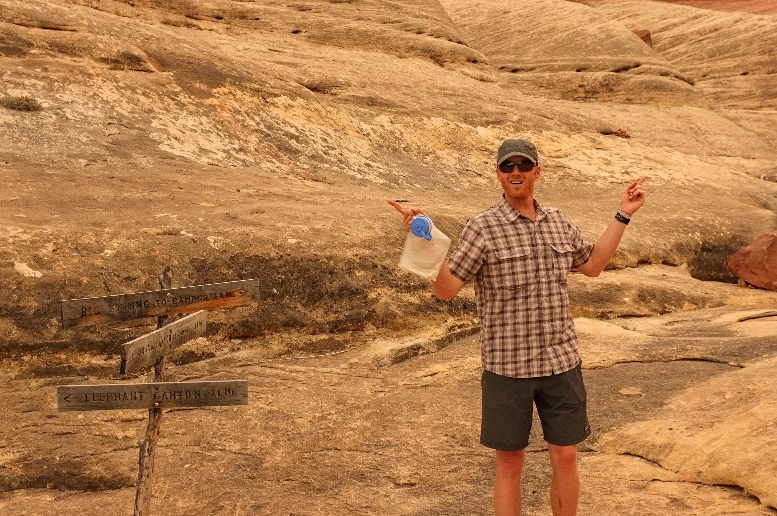 John lost in Canyonlands