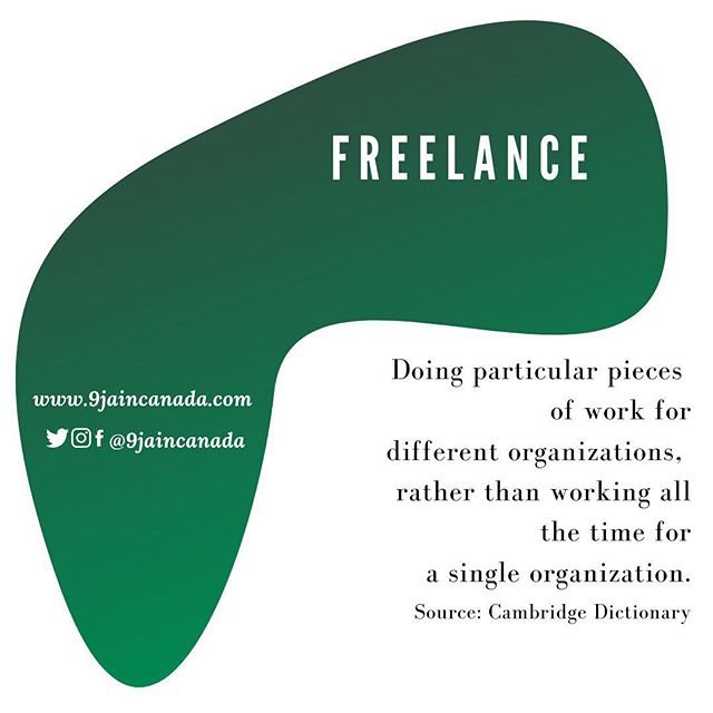 "If you are working as a freelancer, you could sometimes be referred to as a ""contractor"". This would mean that you manage your own time and are responsible for filing and paying your own taxes. An immigrant serving organization near you can help you to understand this process. ——————————————————— #9jaincanada #workingimmigrant  #workingincanada #canadianimmigrant #🇳🇬🇨🇦"