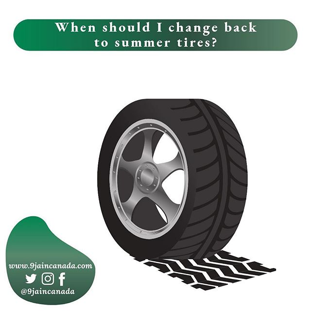 The Canadian automobile association (CAA) recommends that the best time to make the switch from winter to summer tires, is when temperature is at seven degrees Celsius on a regular basis. ————————————————————————————— As the weather has been unpredictable lately (spring season snowstorm in Alberta 🧐😳🥶), this is a great way to determine the right time to switch over to summer tires. ————————————————————————————— Summer tires begin to lose some of their grip as the temperature drops below seven degrees Celsius, while winter tires begin to wear out and offer less response as the temperature rises above seven degrees. ————————————————————————————— #9jaincanada #wintertire #summertire #drivingincanada #nigeriandrivers #africandrivers #immigrantdrivers #summertires #movingtocanada #africansincanada #nigeriansinedmonton