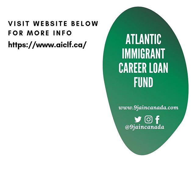 Are you are an internationally trained professional currently living in Atlantic Canada? ————————————————————————————— Funded by the Government of Canada's Foreign Credential Recognition Program, the Atlantic Immigrant Career Loan Fund is a micro loan fund for internationally trained individuals. ————————————————————————————— The purpose of the fund is to assist newcomers by providing micro-loans to overcome financial barriers to becoming licensed to practice and entering the workforce/working in their occupations or related/other fields. ————————————————————————————— Who can apply: Most Internationally trained immigrants living in Atlantic Canada ( New Brunswick, Nova Scotia, Prince Edward Island and Newfoundland and Labrador). Visit https://www.aiclf.ca/  for more info.  ________________________________________________________________  How much can I apply for? Up to 15,000 CAD ——————————————————————————— #9jaincanada #regulatedprofession  #regulatedtrade  #skiledtrade #canadianimmigrants #africansincanada #immigrantincanada