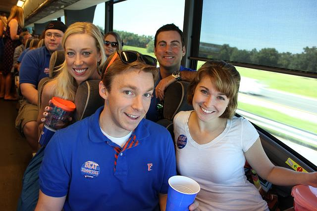 Gator Football Bus Trips - Don't want to deal with the headaches, cost, and hassle of driving to Gainesville for Gator football games? Hop on the Central Florida Gator Club buses and ride to the games in style & comfort!