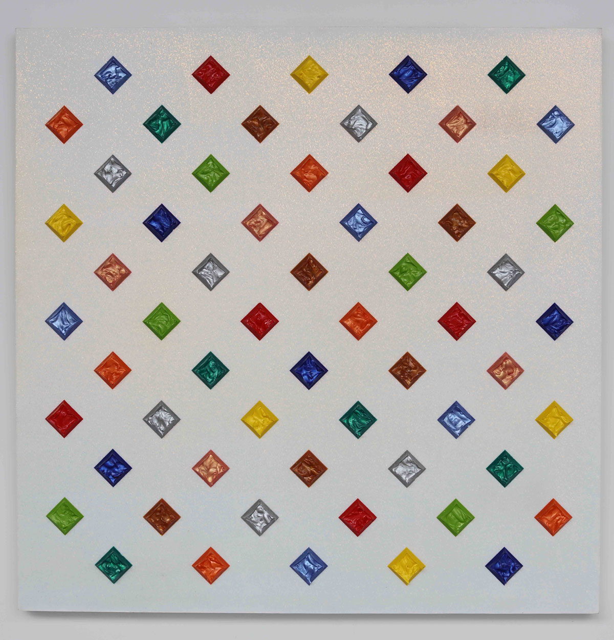Untitled , 2010, acrylic on panel, 40 x 40 inches