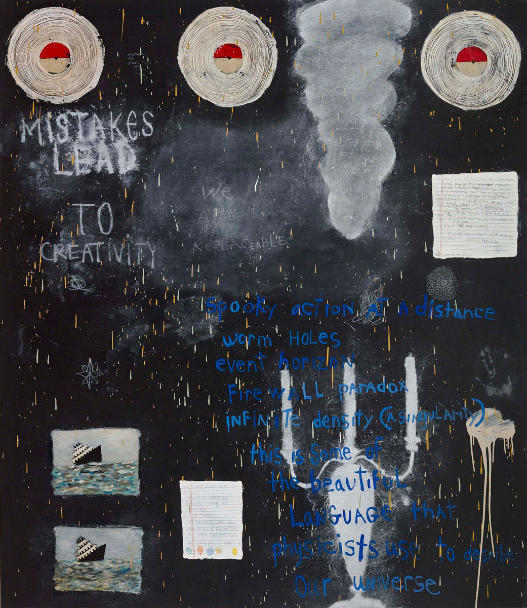 Beautiful Language , 2013, oil and alkyd on canvas over panel, 75 x 64 inches