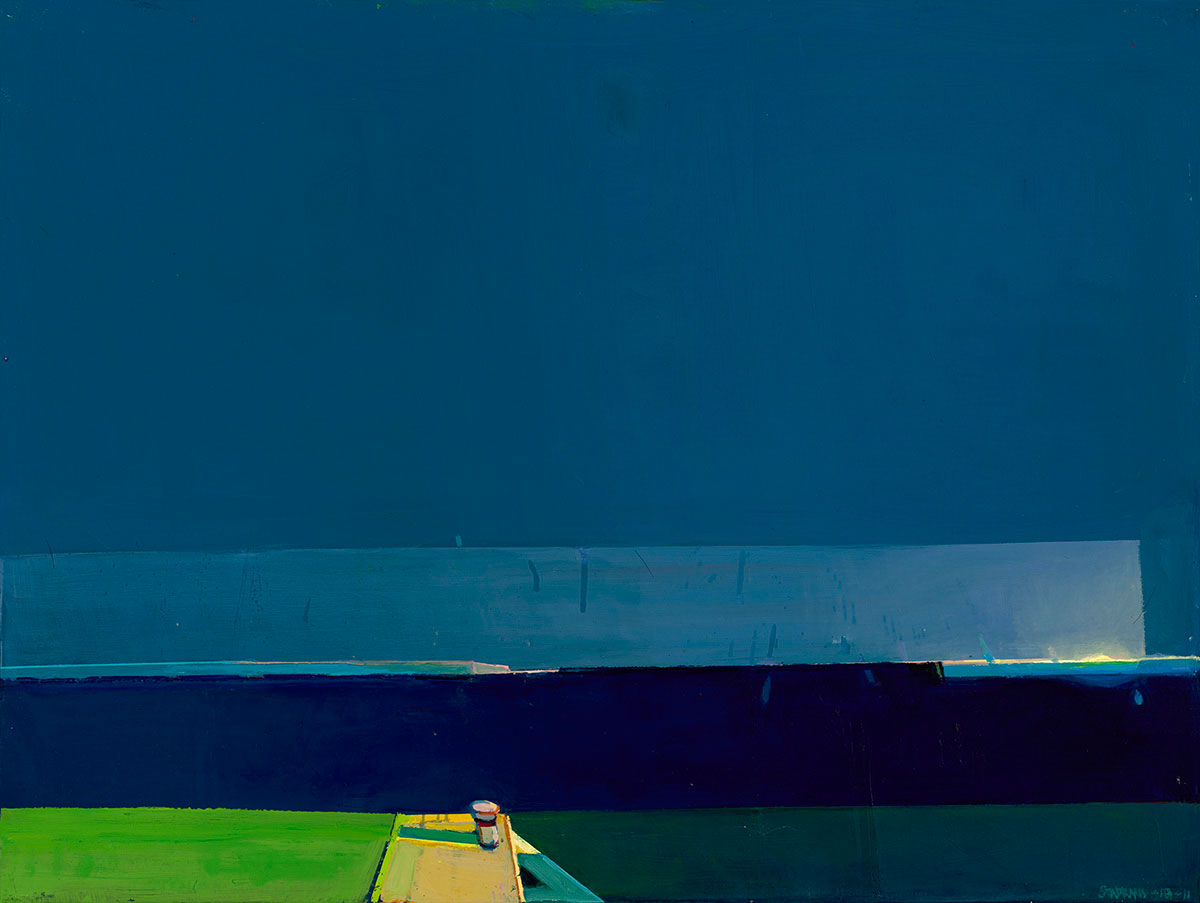 Estuary , 2011, oil on canvas, 36 x 48 inches